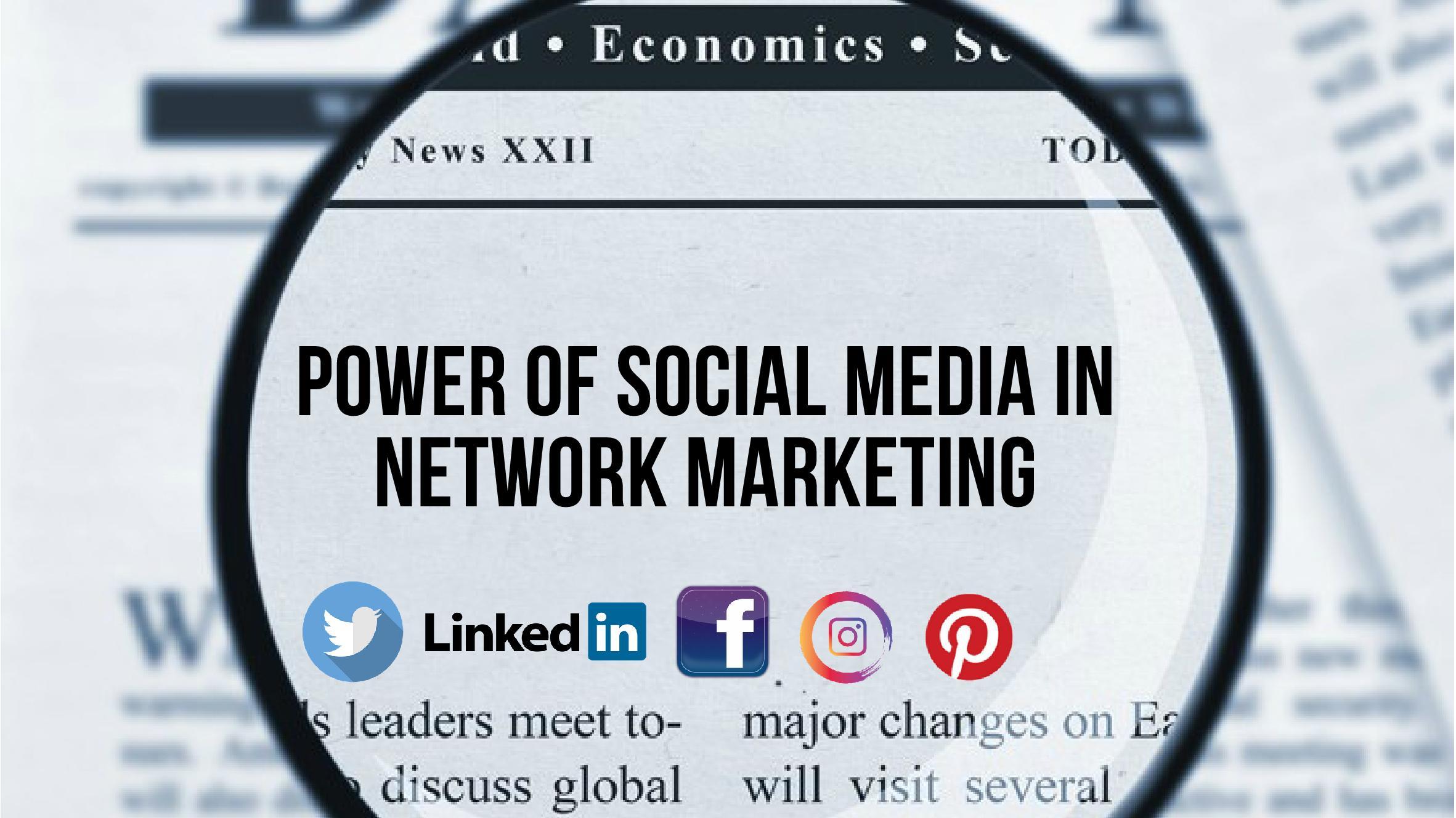 social media in network marketing