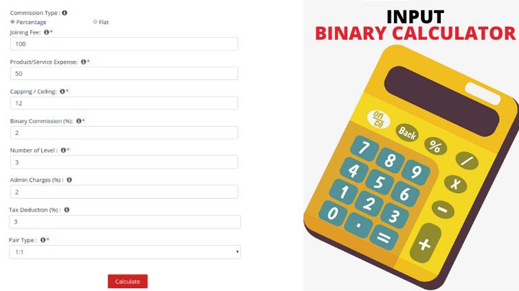 Binary MLM Calculator input