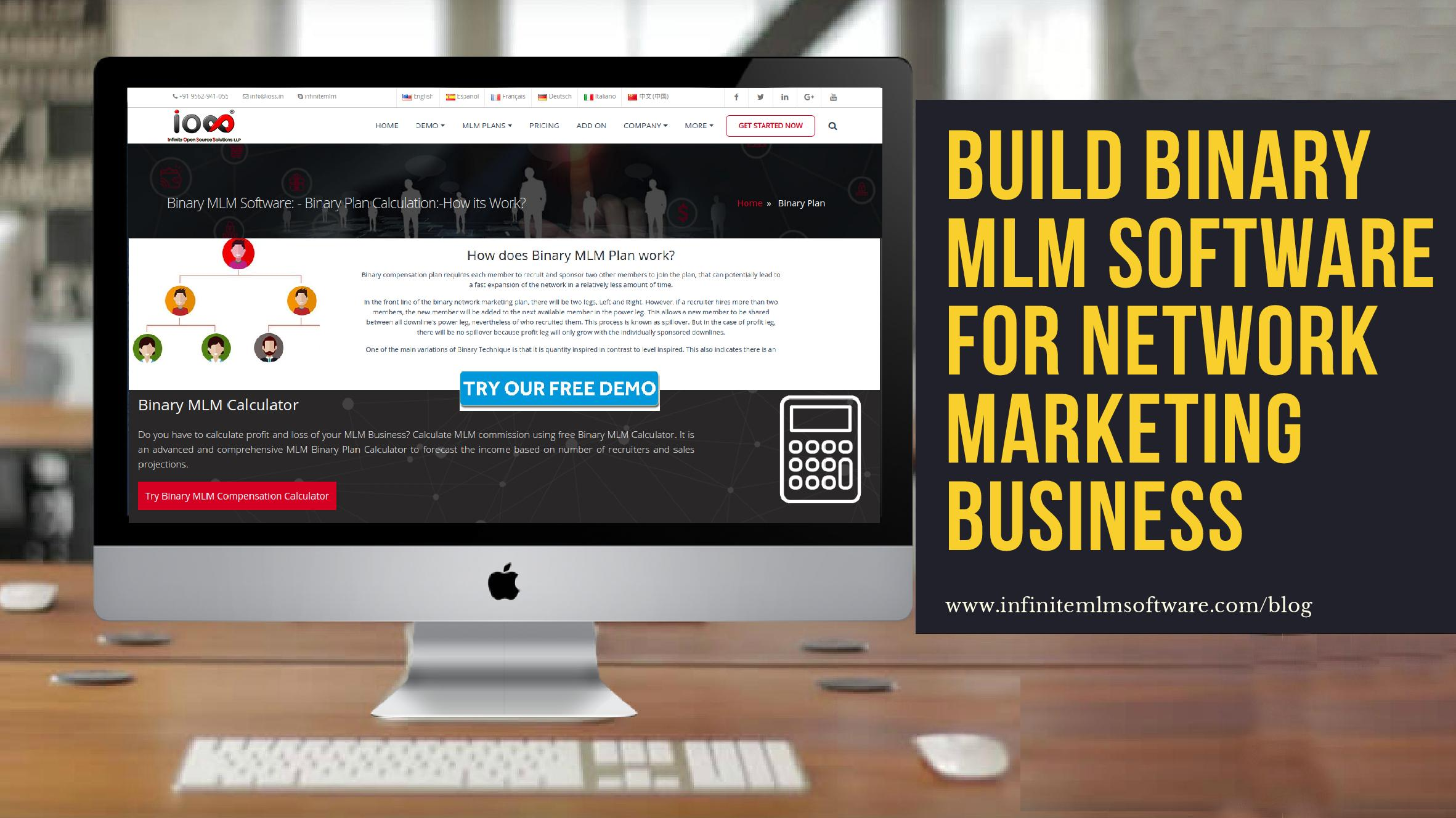 Binary MLM Software for Network Marketing
