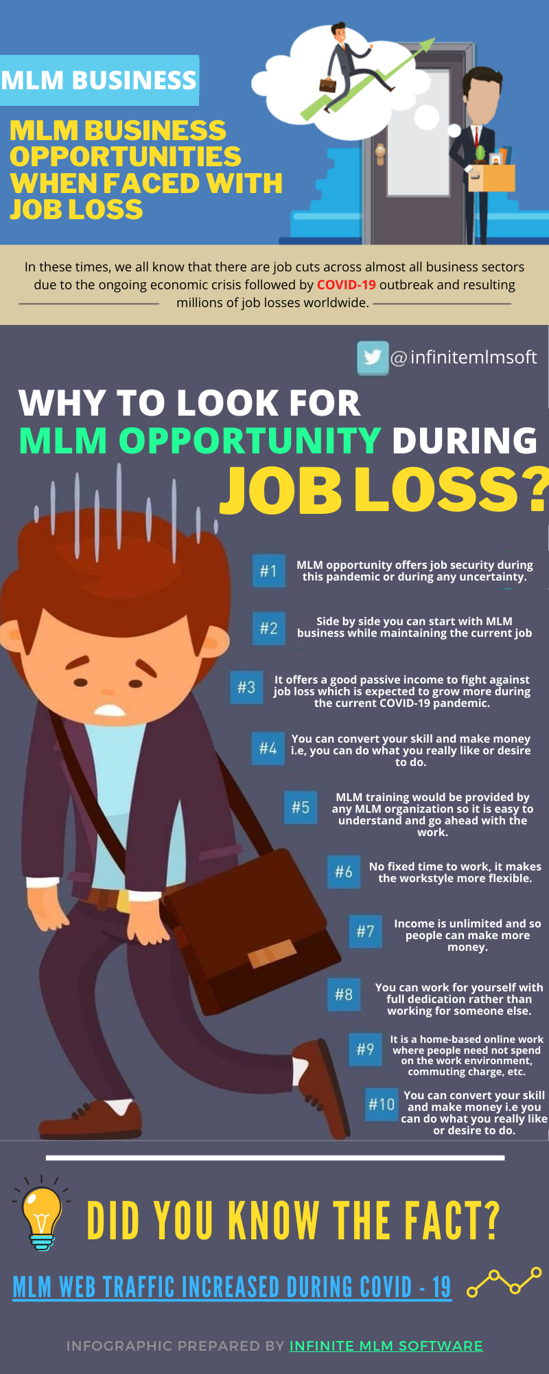 MLM Business OPPORTUNITIES Infographics
